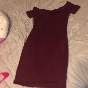 Burgundy Off the shoulder. Dress